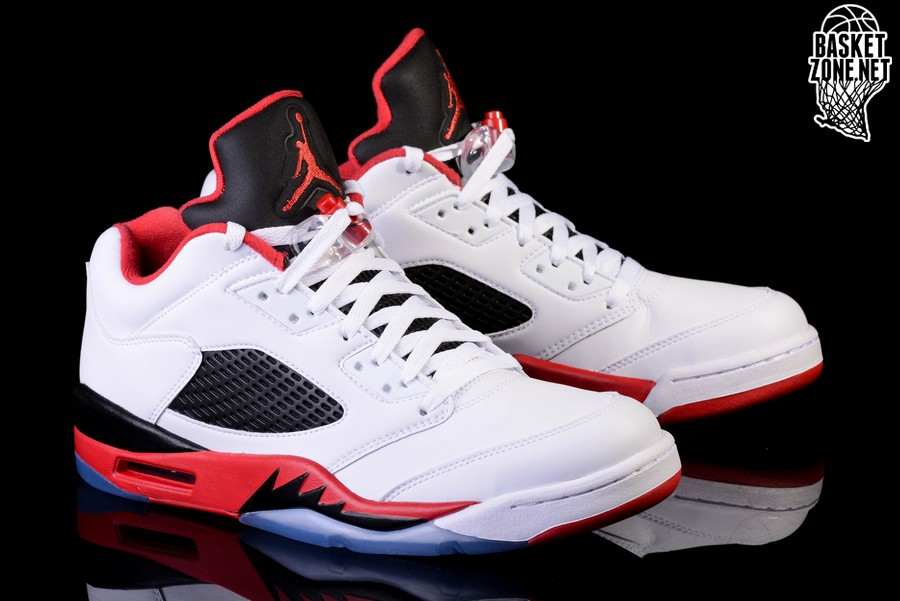 lowest price 055a8 0892b NIKE AIR JORDAN 5 RETRO LOW FIRE RED