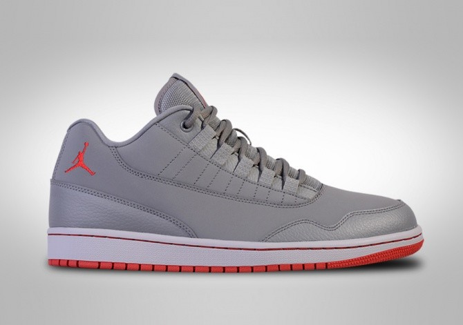 NIKE AIR JORDAN EXECUTIVE LOW WOLF GREY GYM RED