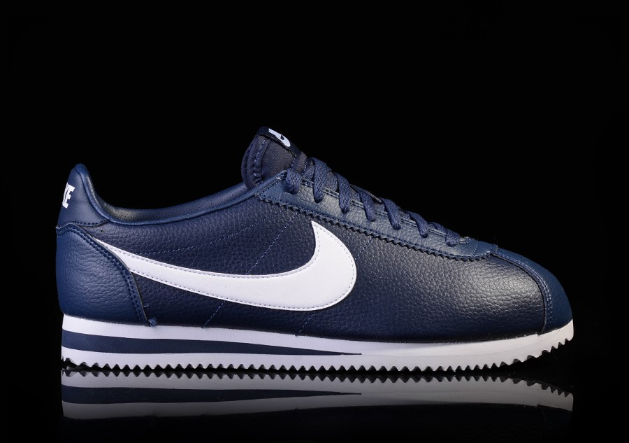 low priced 42c07 32d5f denmark nike cortez mens black white a5b1a 5135d  discount nike classic  cortez leather midnight navy white 30842 40b78