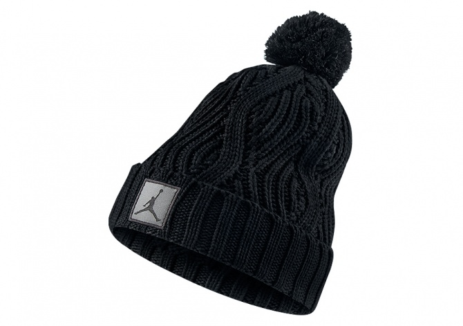 NIKE AIR JORDAN JUMPMAN BEANIE POM BLACK