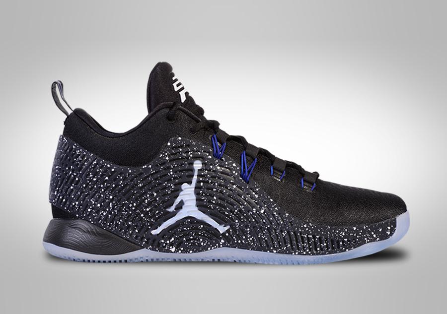 Nike Jordan CP3.X Uomo Scarpe da ginnastica Chris Paul in Nero Taglia UK 7 nuovo con scatola
