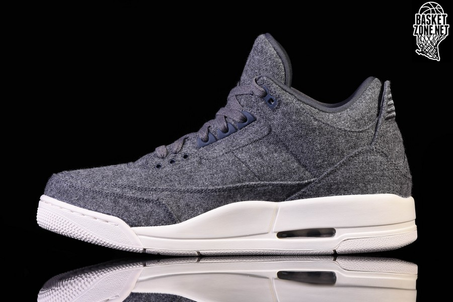 the best attitude 1074d 25844 NIKE AIR JORDAN 3 RETRO WOOL BG
