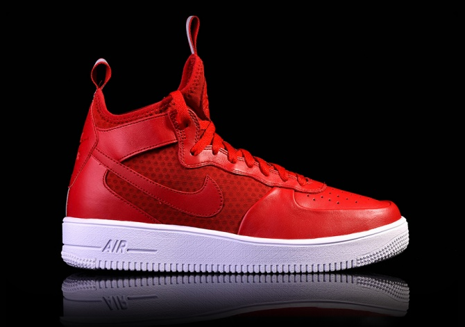 AIR FORCE 1 ULTRAFORCE MID GYM RED/GYM RED-WHITE