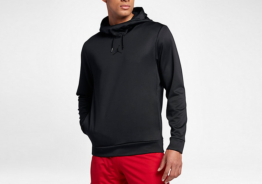 outlet store sale recognized brands where can i buy NIKE AIR JORDAN THERMA 23 ALPHA TRAINING HOODIE BLACK price ...