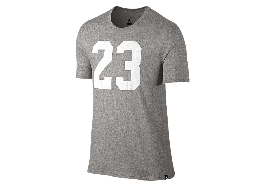 9a7f1c91 NIKE AIR JORDAN JSW ICONIC 23 LOGO TEE DARK GREY HEATHER price €27.50 |  Basketzone.net