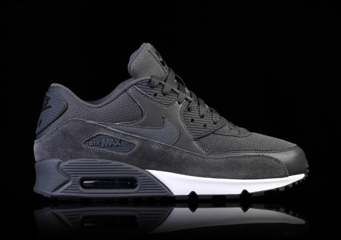 nike air max 90 dark grey white