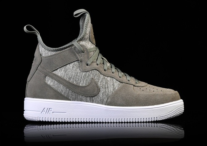 new arrival 3d1f4 be496 NIKE AIR FORCE 1 ULTRAFORCE MID PRM DARK STUCCO
