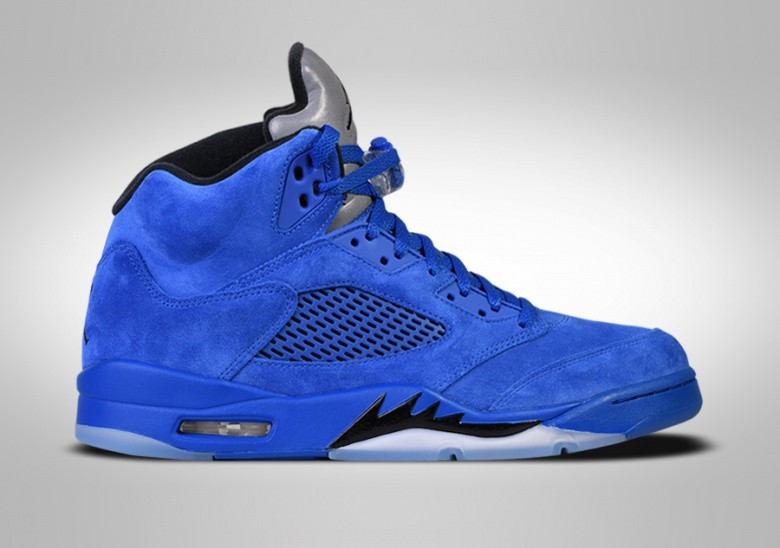 78cc6f8be72bb6 NIKE AIR JORDAN 5 RETRO BLUE SUEDE price €185.00