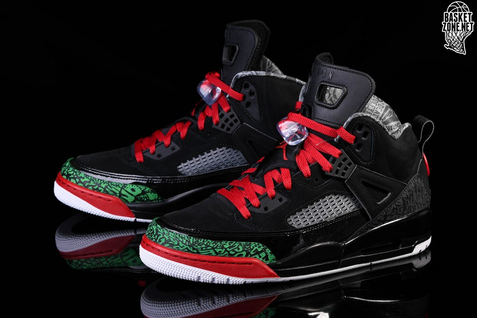 sports shoes 5d9f4 c9a16 NIKE AIR JORDAN SPIZIKE BLACK RED POISON GREEN
