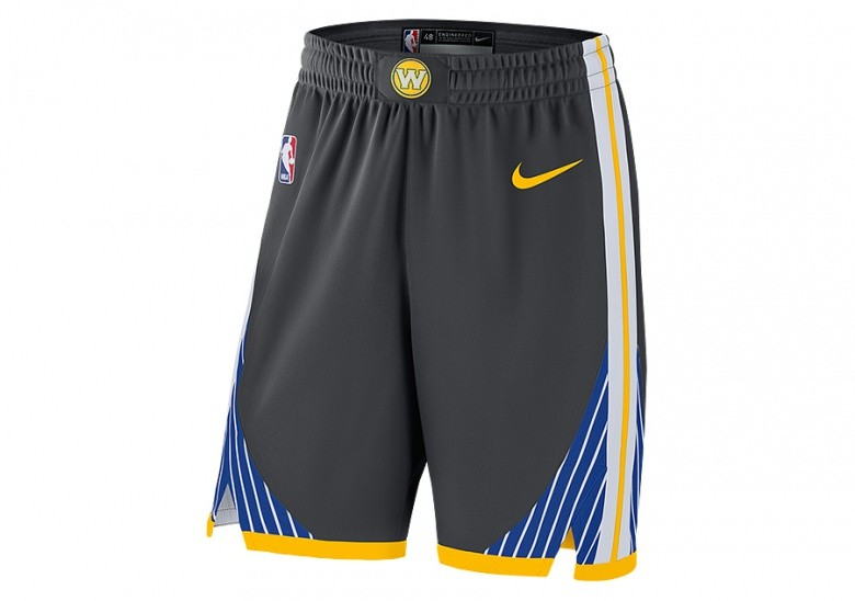 NIKE NBA GOLDEN STATE WARRIORS GSW AUTHENTIC SHORTS ANTHRACITE per ... 56984d3cf36e
