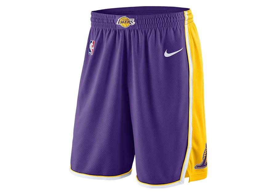hot sale online d0e69 3c0e8 NIKE NBA LOS ANGELES LAKERS STATEMENT EDITION SWINGMAN SHORTS FIELD PURPLE