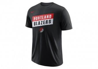 NIKE NBA PORTLAND TRAIL BLAZERS DRY TEE BLACK