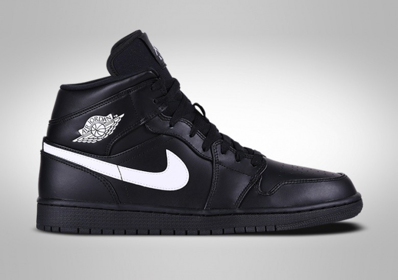 NIKE AIR JORDAN 1 RETRO MID BLACK WHITE