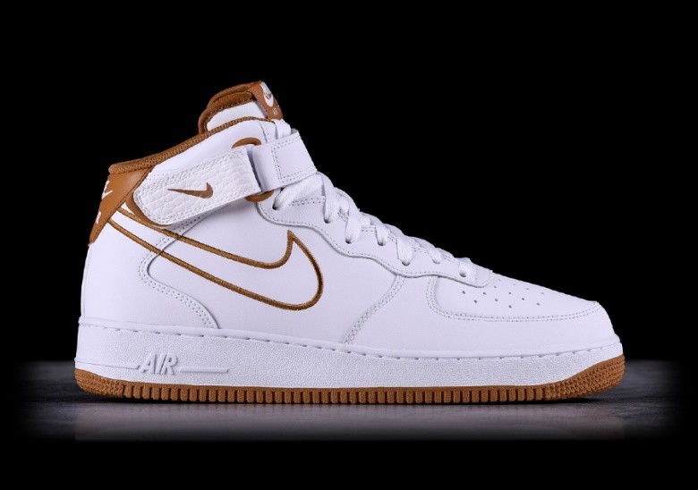 new style 5a446 d3ba1 NIKE AIR FORCE 1 MID  07 LEATHER WHITE
