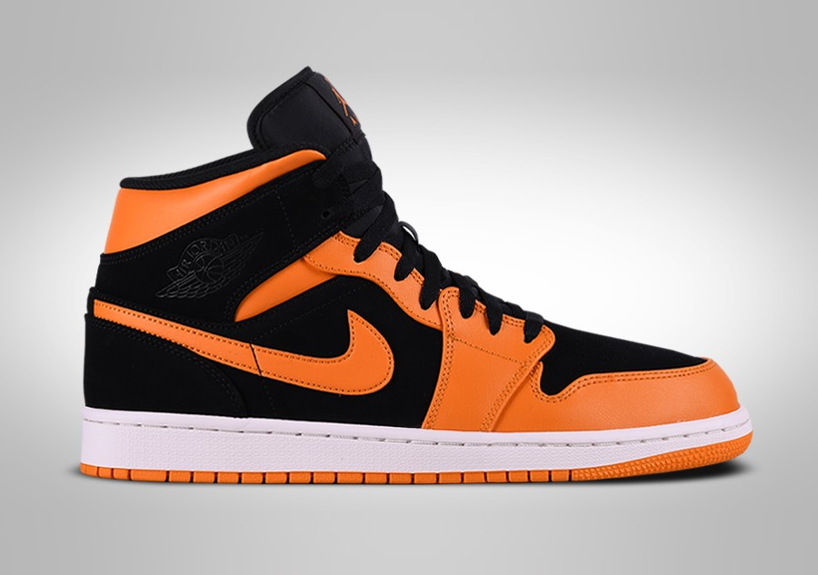 d225c923b9a49d NIKE AIR JORDAN 1 RETRO MID BLACK ORANGE PEEL price €99.00 ...