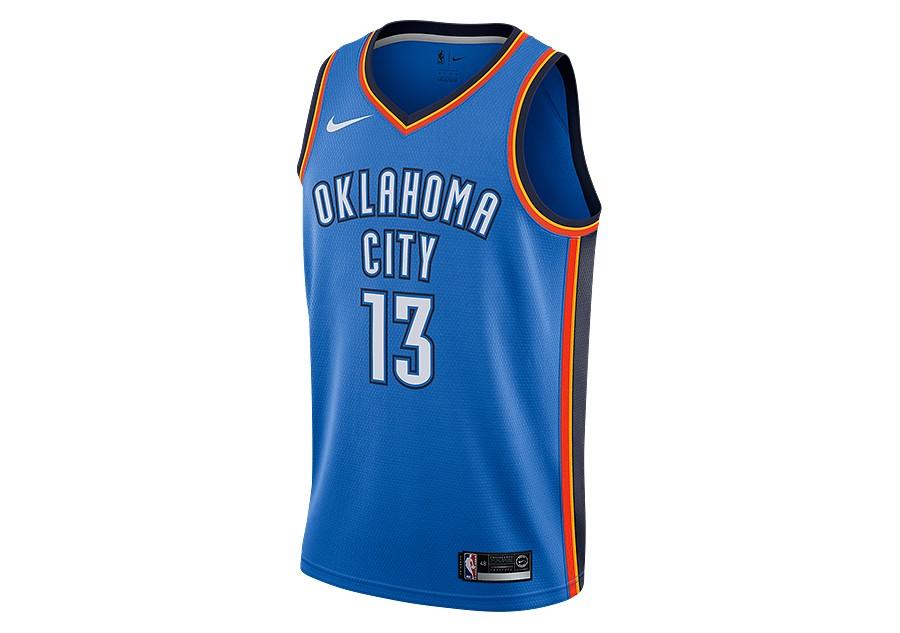 NIKE NBA OKLAHOMA CITY THUNDER PAUL GEORGE ROAD SWINGMAN JERSEY SIGNAL BLUE  pour €77 f336ca0d15f