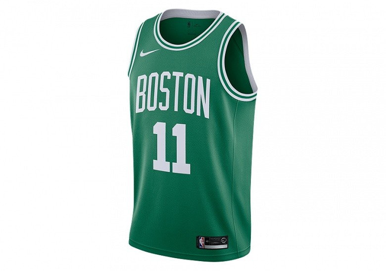 NIKE NBA BOSTON CELTICS KYRIE IRVING ROAD SWINGMAN JERSEY CLOVER