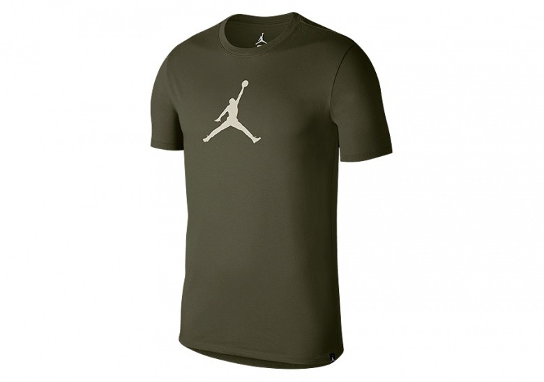 NIKE AIR JORDAN DRY JMTC 23/7 JUMPMAN BASKETBALL TEE OLIVE CANVAS