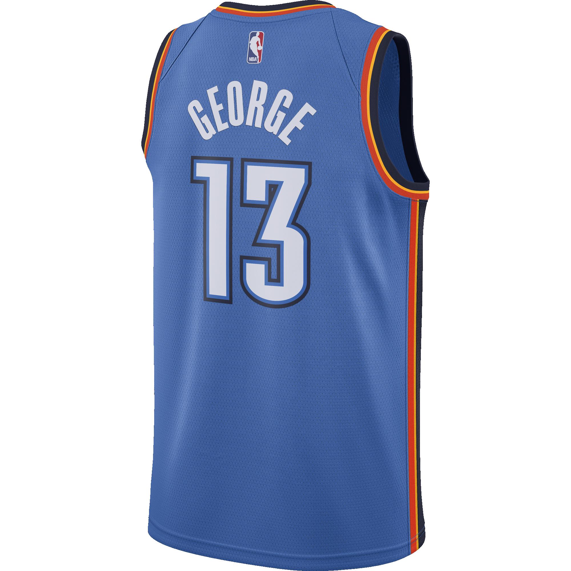 best loved 69836 57a57 NIKE NBA OKLAHOMA CITY THUNDER PAUL GEORGE ROAD SWINGMAN ...