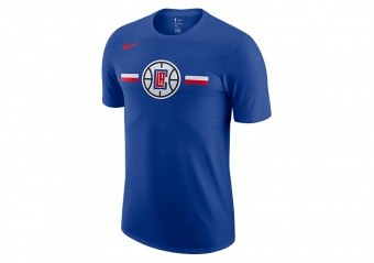NIKE NBA LOS ANGELES CLIPPERS LOGO DRY TEE RUSH BLUE