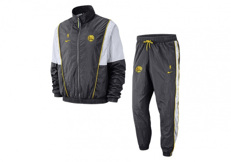 NIKE NBA GOLDEN STATE WARRIORS COURTSIDE TRACKSUIT ANTHRACITE