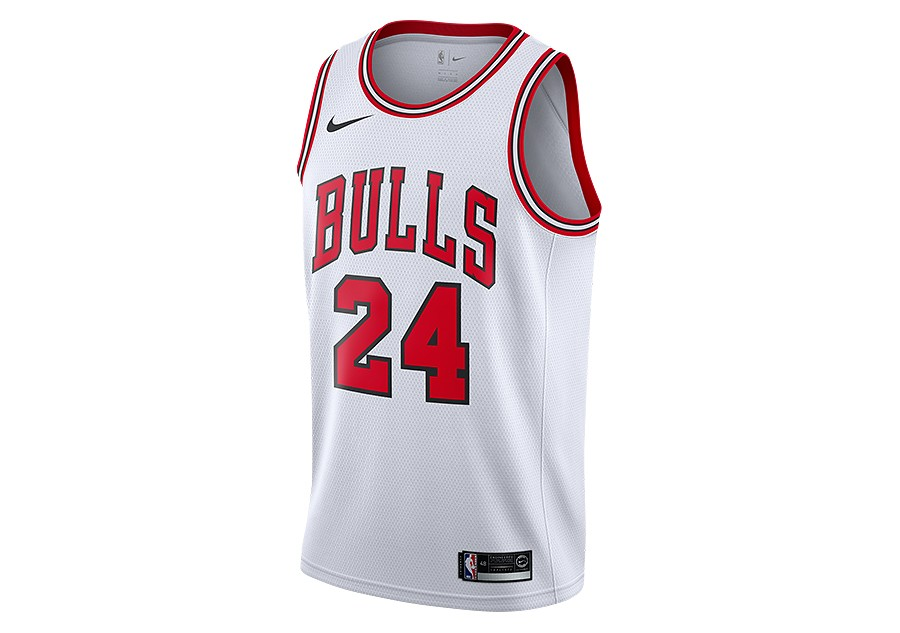 NIKE NBA CHICAGO BULLS LAURI MARKKANEN SWINGMAN HOME JERSEY WHITE price  €77.50  6247671b9