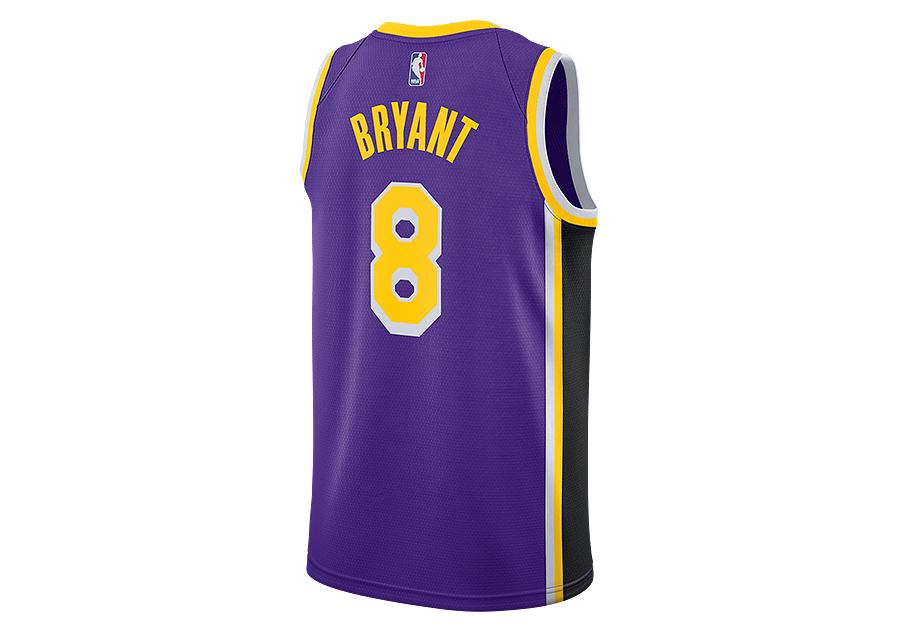 NIKE NBA LOS ANGELES LAKERS KOBE BRYANT SWINGMAN JERSEY FIELD PURPLE ... cb221294a