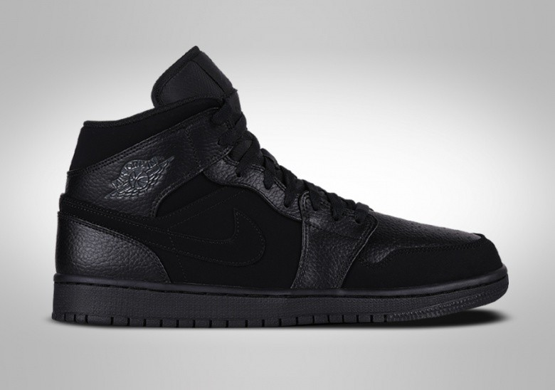 NIKE AIR JORDAN 1 RETRO MID GS TRIPLE BLACK