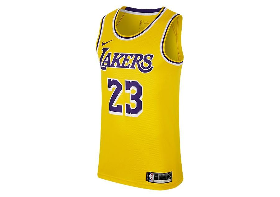 f2b801200bd NIKE NBA LOS ANGELES LAKERS LEBRON JAMES SWINGMAN ROAD JERSEY AMARILLO