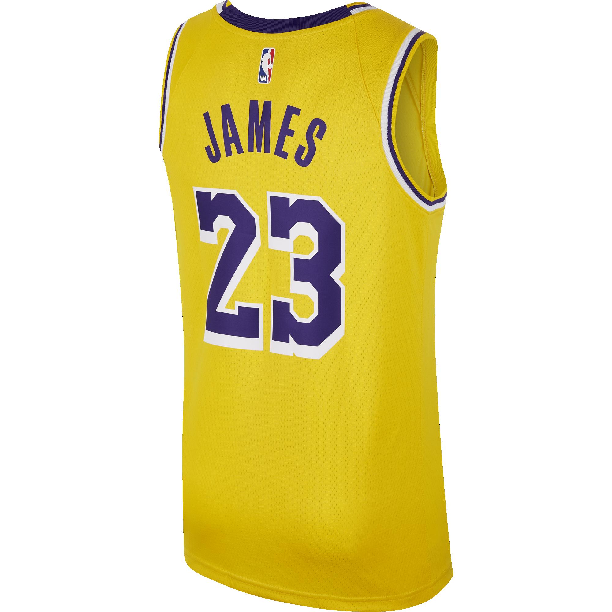 4e28c59ba75 NIKE NBA LOS ANGELES LAKERS LEBRON JAMES SWINGMAN ROAD JERSEY. Previous Next