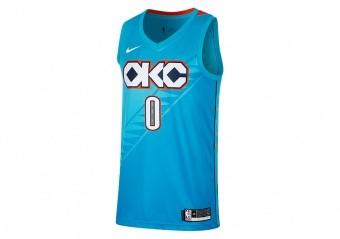 NIKE NBA OKLAHOMA CITY THUNDER RUSSELL WESTBROOK SWINGMAN JERSEY TIDAL BLUE