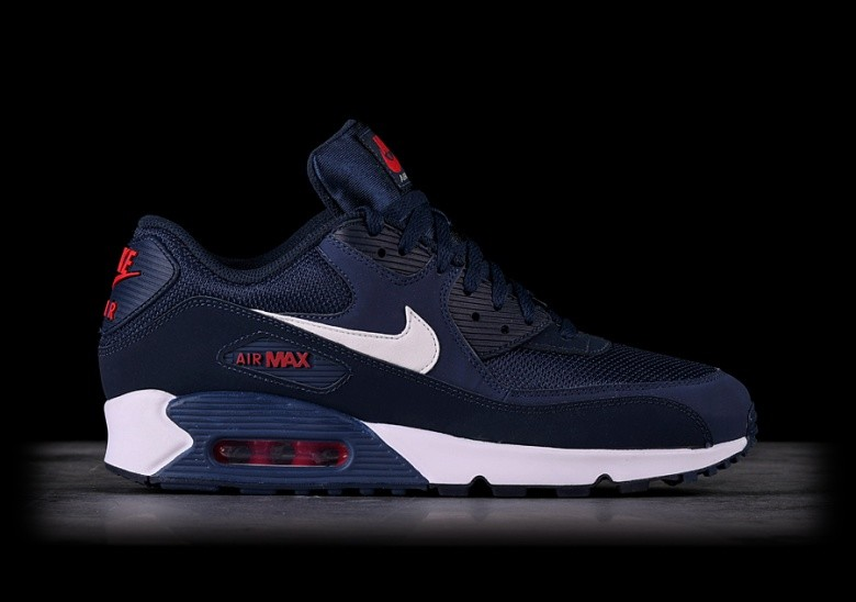 Nike Air Max 90 Essential Midnight Navy Buty Shoes, Blue, 43