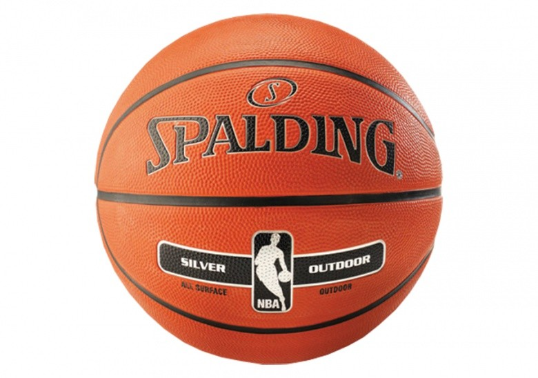 SPALDING NBA SILVER OUTDOOR (SIZE 6) ORANGE