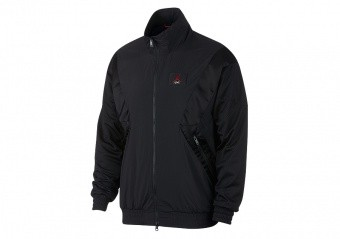 NIKE AIR JORDAN FLIGHT WARM-UP JACKET BLACK