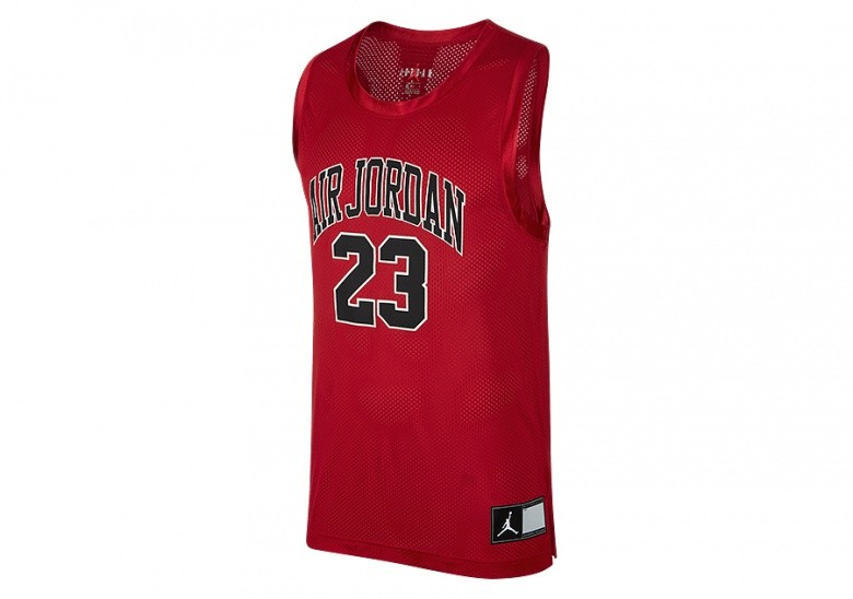 NIKE AIR JORDAN DNA DISTORTED JERSEY GYM RED
