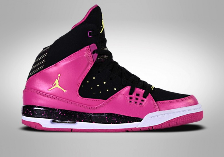 NIKE GIRLS JORDAN SC-1 GS BLACK FLASH PINK