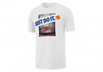 NIKE 'JUST DO IT' DRY TEE WHITE