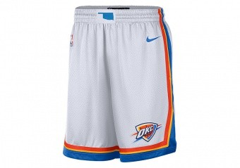 NIKE NBA OKLAHOMA CITY THUNDER HOME SWINGMAN SHORTS WHITE