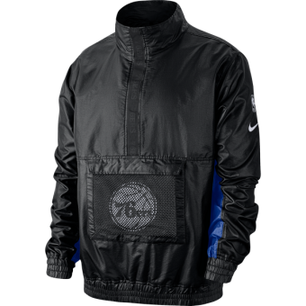 NIKE NBA PHILADELPHIA 76ERS LIGHTWEIGHT COURTSIDE JACKET