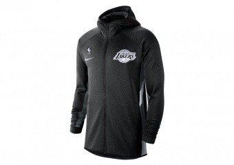 NIKE NBA LOS ANGELES LAKERS THERMA FLEX HOODIE BLACK