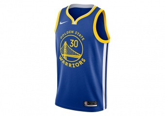 NIKE NBA GOLDEN STATE WARRIORS STEPHEN CURRY SWINGMAN ROAD JERSEY RUSH BLUE