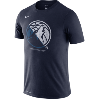 NIKE NBA MINNESOTA TIMBERWOLVES Dri-FIT LOGO TEE COLLEGE NAVY