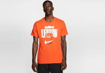 NIKE LEBRON DRI-FIT TEE TEAM ORANGE