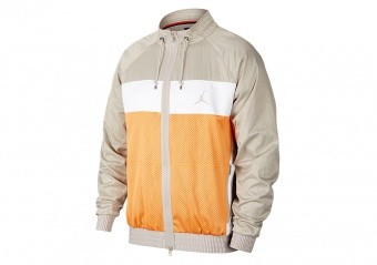 NIKE AIR JORDAN WINGS SUIT JACKET ORANGE TRANCE
