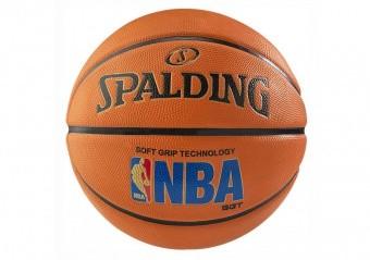 SPALDING NBA LOGOMAN SOFT GRIP SIZE 7 AMBER