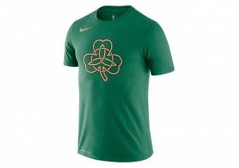 NIKE NBA BOSTON CELTICS CITY EDITION LOGO TEE CLOVER