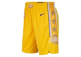 NIKE NBA LOS ANGELES LAKERS SWINGMAN SHORTS AMARILLO