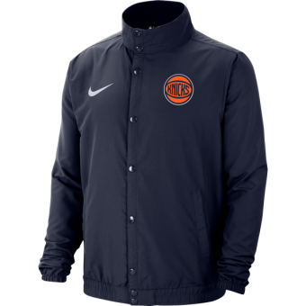 NIKE NBA NEW YORK KNICKS CITY EDITION LIGHTWEIGHT JACKET COLLEGE NAVY