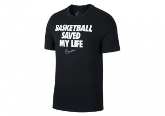 NIKE 'BASKETBALL SAVED MY LIFE' DRY TEE BLACK