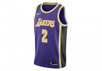 NIKE NBA LOS ANGELES LAKERS LONZO BALL SWINGMAN JERSEY FIELD PURPLE